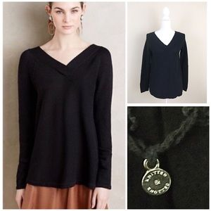 Knitted & knotted Anthropologie v-neck Sweater Sm